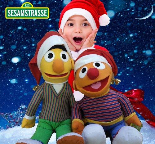 Original Sesamstraße XXL Figuren Sesamstraße Ernie und Bert