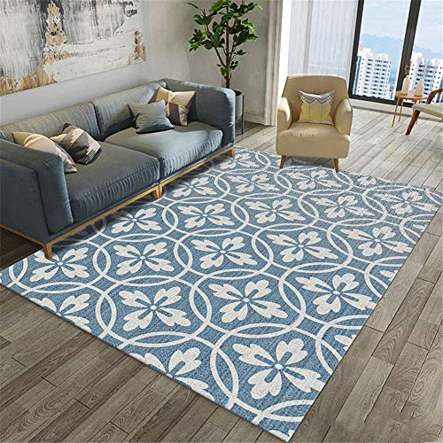 MMHJS Scandinavian Geometric Simple Household Carpet Bedroom Bedside Full Office Coffee Table Carpet Suitable For Living Room Balcony Hotel