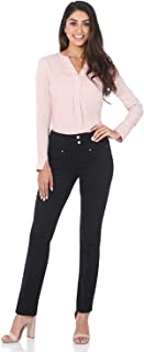 Women's Secret Figure Pull-On Knit Straight Pant w/Tummy Control