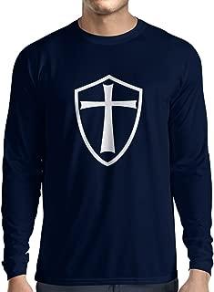 lepni.me Men's T-Shirt Knights Templar Soldiers of Christ Crusader Cross Shield