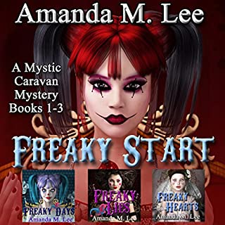 Freaky Start     A Mystic Caravan Mystery, Books 1-3              By:                                                                                                                                 Amanda M. Lee                               Narrated by:                                                                                                                                 Caitlin Kelly                      Length: 28 hrs and 42 mins     43 ratings     Overall 4.4