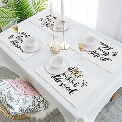Dii Collection Tabletop Placemat Set Easter Folk Garden 6 Piece Home Kitchen