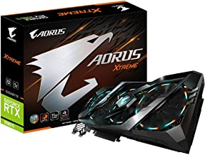 Gigabyte AORUS GeForce RTX 2080 Ti Xtreme 11G Graphics Card, 3X Stacked Windforce Fans, 11GB 352-bit GDDR6, Gv-N208TAORUS ...
