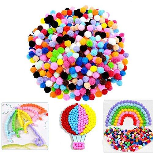 Hahuha Dekorative Pompons, Caydo 100 Stück 1 Zoll Pom Poms für Hobbybedarf und Basteln zum Selbermachen, Wohnkultur