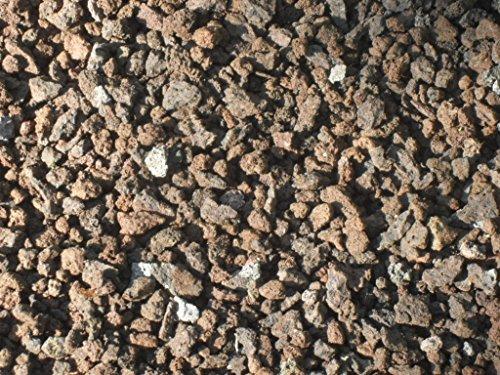 Der Naturstein Garten 25 kg (Vergleichspreis 11,40 Euro bei 20 Liter) Lava Mulch 2-8 mm - Pflanzgranulat Lavastein Lavasteine Kies Kiesel Lavamulch Dachbegrünung Lavagranulat - Lieferung KOSTENLOS