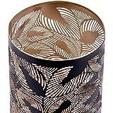 ZEYA Windlicht schwarz Metall 2er Set, Windlicht Gold Deko, Perfekte Dekoration Wohnzimmer, Windlicht Laterne Blätter - 4