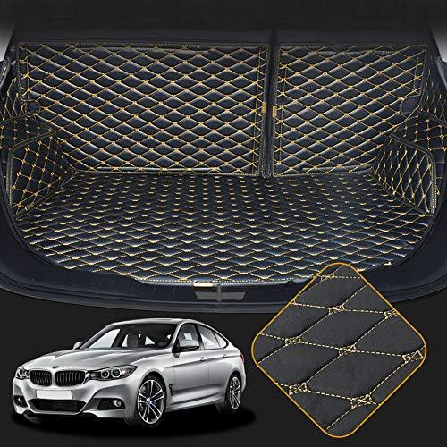 OREALTECH Tapis De Coffre De Voiture pour BMW 3 Series F30 F80 E93 E92 F34 F31 2013-2019 Housse Tout Temps Couverture Entière Anti-poussière en Cuir XPE