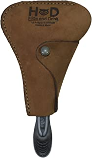 Rustic Leather Razor Cover Handmade by Hide & Drink :: Toffee Suede