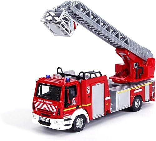Lingling Legierungstechnik fürzeugmodell 1 50 Leiter Leiter Feuerwehrauto Spielzeug Modellbau fürzeug Brandbek fung Simulation (Farbe   rot)