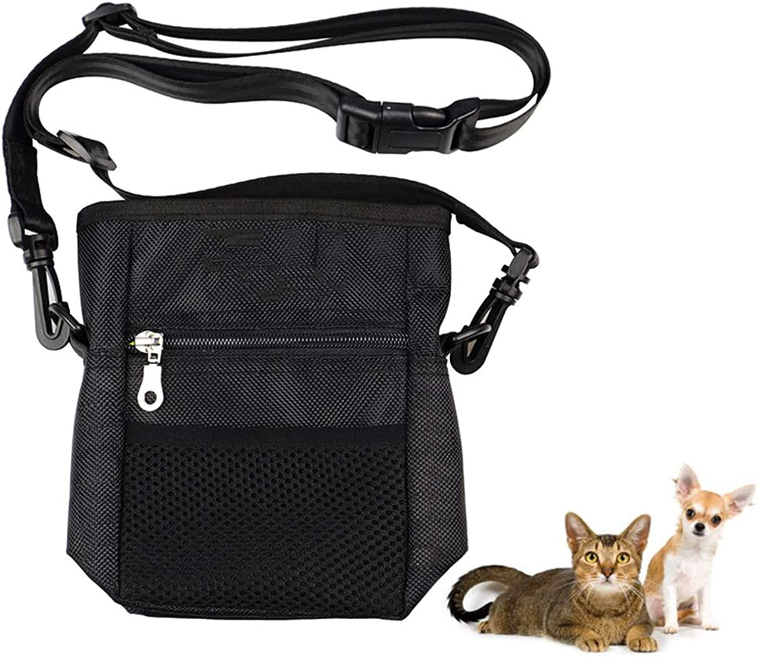Built in Dog Waste Bag Dispenser, Dog Training Pouch Bag with Waist Shoulder Strap, It's Small and Lightweight Ensures It Works Great