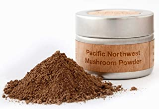 Organic Mushroom Extract Powder by Holistic Bin - Pacific Northwest USA Blend of 19 Wild Varieties (Mesima, Turkey Tail, Lion's Mane, True Tinder, Scarlet, Enoki, Blazei, Artist's Conk, Reishi)