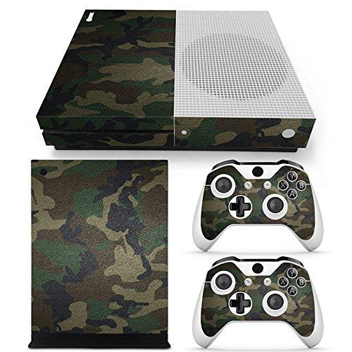 Microsoft XBOX ONE S Skin Design Foils Aufkleber Schutzfolie Set - Camouflage 3 Motiv