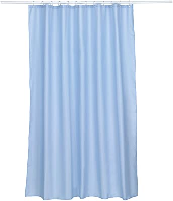 Kela ケラ シャワーカーテン サイズ:180×H200cm スカイブルー Laguna 22077