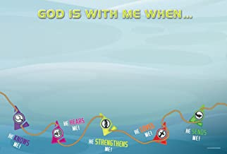 God Is With Me Wall Banner (Vacation Bible School (VBS) 2016: Deep Sea Discovery God Is with Me Wherever I G)