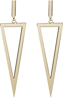 Best large gold triangle earrings Reviews