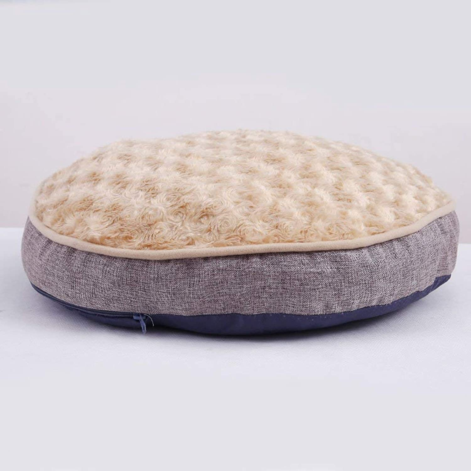 Desti Flakes Kennel Autumn and Winter Teddy Bear Kennel Cat Litter Small Dog Medium Dog Washable Pet Supplies Dog Mattress (color   C, Size   60  60  10cm)