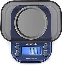 ACCUWEIGHT 255 Mini Bilancia di Precisione Digitale per Cucina Gioielli Oro Bilancia Tascabile Elettronica 300g/0,01g con Tara e Calibrazione Alimenti Pesa Bilance