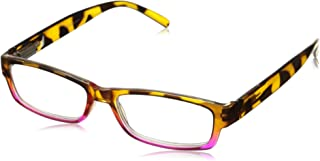 Peepers Unisex-Adult Eye of The Tiger 866275 Rectangular Reading Glasses, Tortoise/Pink