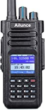 Ailunce HD1 DMR Radio Dual Band Waterproof IP67 Dual Time Slot FM DTMF LCD Recording SMS 3000 Channels 200000 Contacts 3200mAh Digital 2 Way Radio(1 Pack)