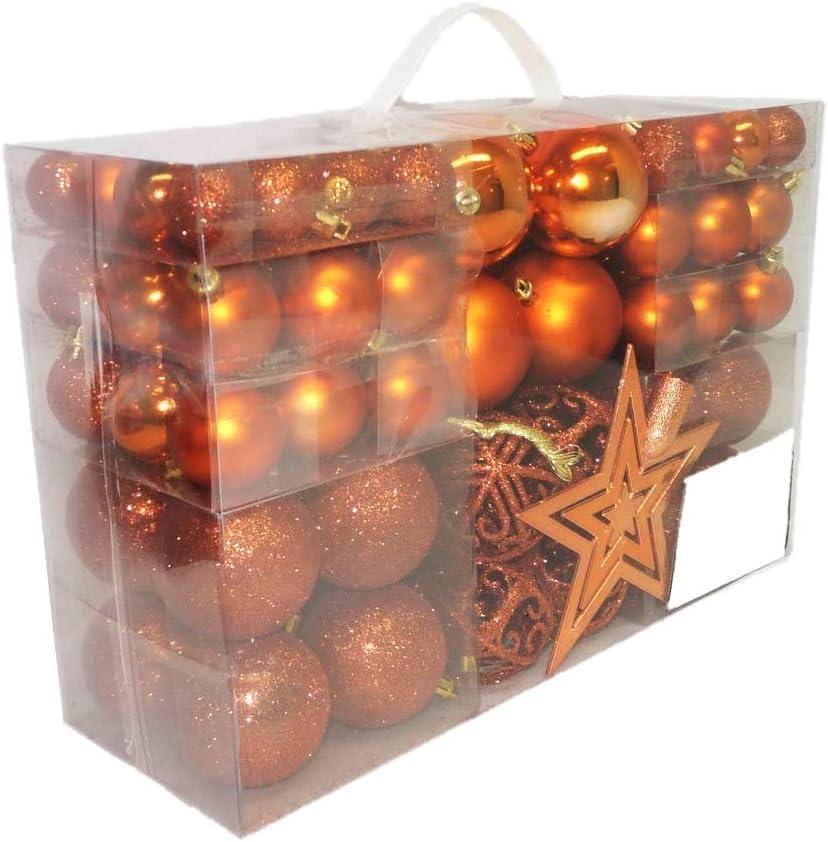3//6//4 cm Diametro Geschenkestadl 100 palline di Natale con punta per albero Lilla