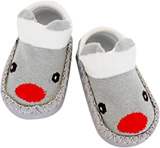 Dolloress Cute Annimal Baby Socks Slippers with Anti-Slip Bottom for Newborn Baby Boys Girls Toddlers for Kids 0 to 4 Years