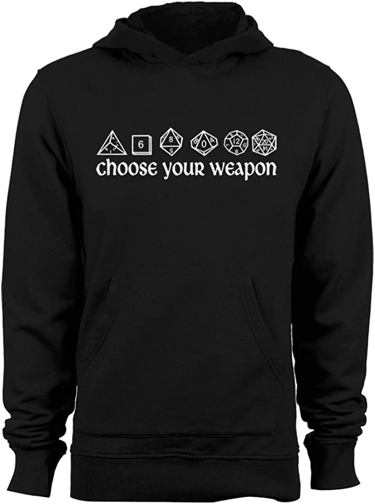 half GEEK TEEZ DND Al sold out. Inspired Choose Your Men's Hoodie Weapon