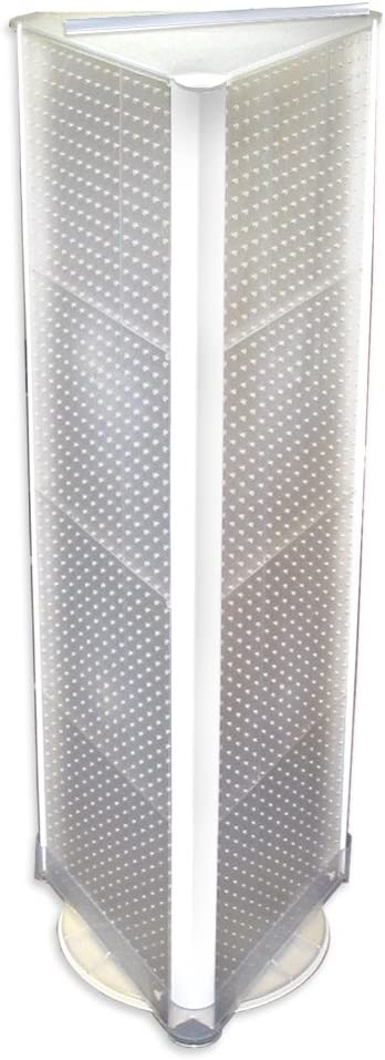 White Solid Pegboard Azar 700450-WHT Three-Sided Spinning Pegboard ...