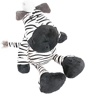 COFFLED 13.75 Inch Zebra Animal Stuffed Plush Toys for Baby Infant First Bedtime Dolls; Softer Pillow Nursery Decoration Stand Stuffed Cute Animal Gift
