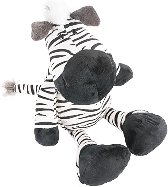 COFFLED 13 75 Inch Zebra Animal Stuffed Plush Toys For Baby Infant First Bedtime Dolls Softer Pillow Nursery Decoration Stand Stuffed Cute Animal Gift