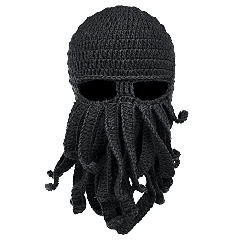 4470d25e4f7 Vbiger Tentacle Octopus Cthulhu Knit Beanie Windproof Ski Mask Hat Cap