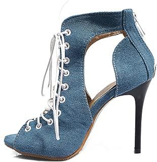 MisaKinsa Women Classic Summer Shoes Stiletto High Heels Gladiator Sandals