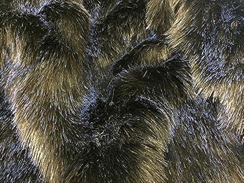 Super Luxus Kunstfell Stoff Material Starry Night SchwarzBlau