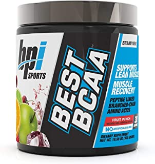 BPI Sports Best BCAA, 30 Servings, Fruit Punch, 0.3 Kilograms