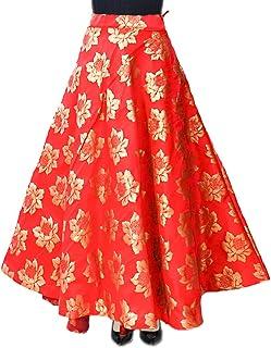 Women's Umbrella Cut Traditional Lehenga/Skirt for Party/Festival Function,(Lahariya Skirt)