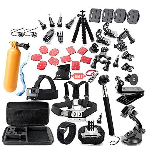 Andoer 45 em 1 câmera acessórios cam ferramentas para fotografia ao ar livre câmeras de proteção ferramenta compatível com GoPro hero 5 4 3 2 1 Yi Yi 4 k SJ4000 SJ5000 SJ7000 SJ7000 EKEN H9R H8W