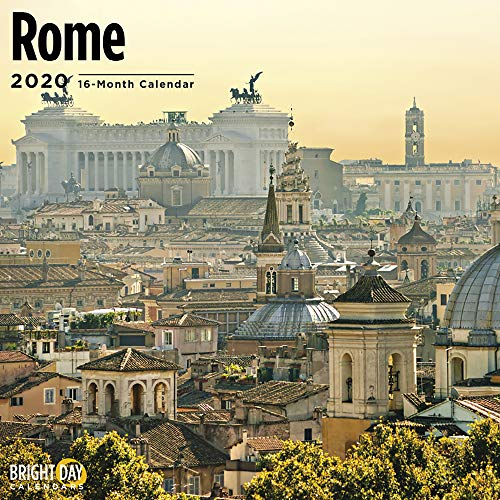 2020 Rome Wall Calendar by Bright Day, 16 Month 12 x 12 Inch, European Travel Destination History