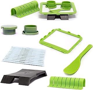 YEKKU Kit de fabricación de sushi, herramienta de plástico para hacer sushi para principiantes, molde para hacer sushi par...