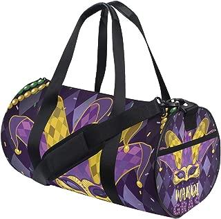 MIFSOIAVV Travel Duffel Bag Mask Joker Hat Necklace Balls Event Sports Lightweight Canvas Gym Luggage Handbag Overnight Weekend Bag for Men Women