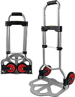 grandes roues maniables avec surfaces de roulement souples y compris 2 cordons extensibles ATHLON TOOLS diable pliant en aluminium pour charge lourde