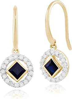 Gold Silver Drop Earrings Women Geometric Open Ball Stick Circle Diamond Cube