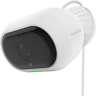 كاميرا مراقبة برو للاستخدام الخارجي من بلورامز بدقة 1080 بي فل اتش دي مزودة بمخرج صوت ثنائي ورؤية ليلية، لتحديد الاوجه، مع...