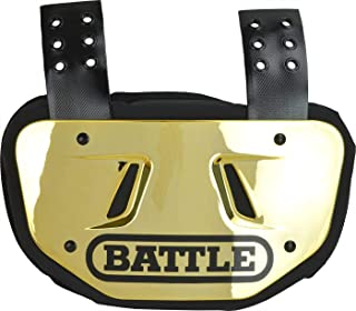 Battle Back Bone Back Plate – Rear Protector Lower Back Pads for Football Players – Backplate Shield with High Impact Foam Backing - Available in Youth and Adult Sizes