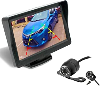 Backup Camera and Monitor Kit for Car/MPV/Pickup/Truck/SUV,Universal Wired Waterproof Rear-View 2-Installation Car Rear Ba... photo