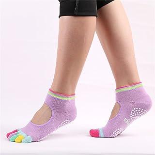 Color Five-Finger Antiskid Rubber Socks Open-Toed Cotton Socks Yoga Socks,Fully Breathable
