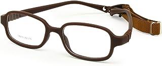 إطار نظارات طبية للأولاد والبنات مقاس 45 من إنزو ديت مع حزام، قطعة واحدة مرنة بدون برغي للأطفال