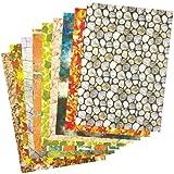 Bastelpapier DIN A4 mit Naturmustern für Kinder zum