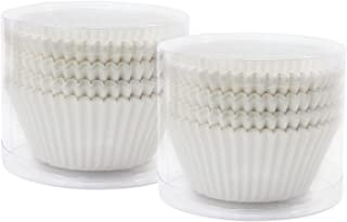 TsunNee - Moldes para magdalenas (papel, 7 cm) blanco