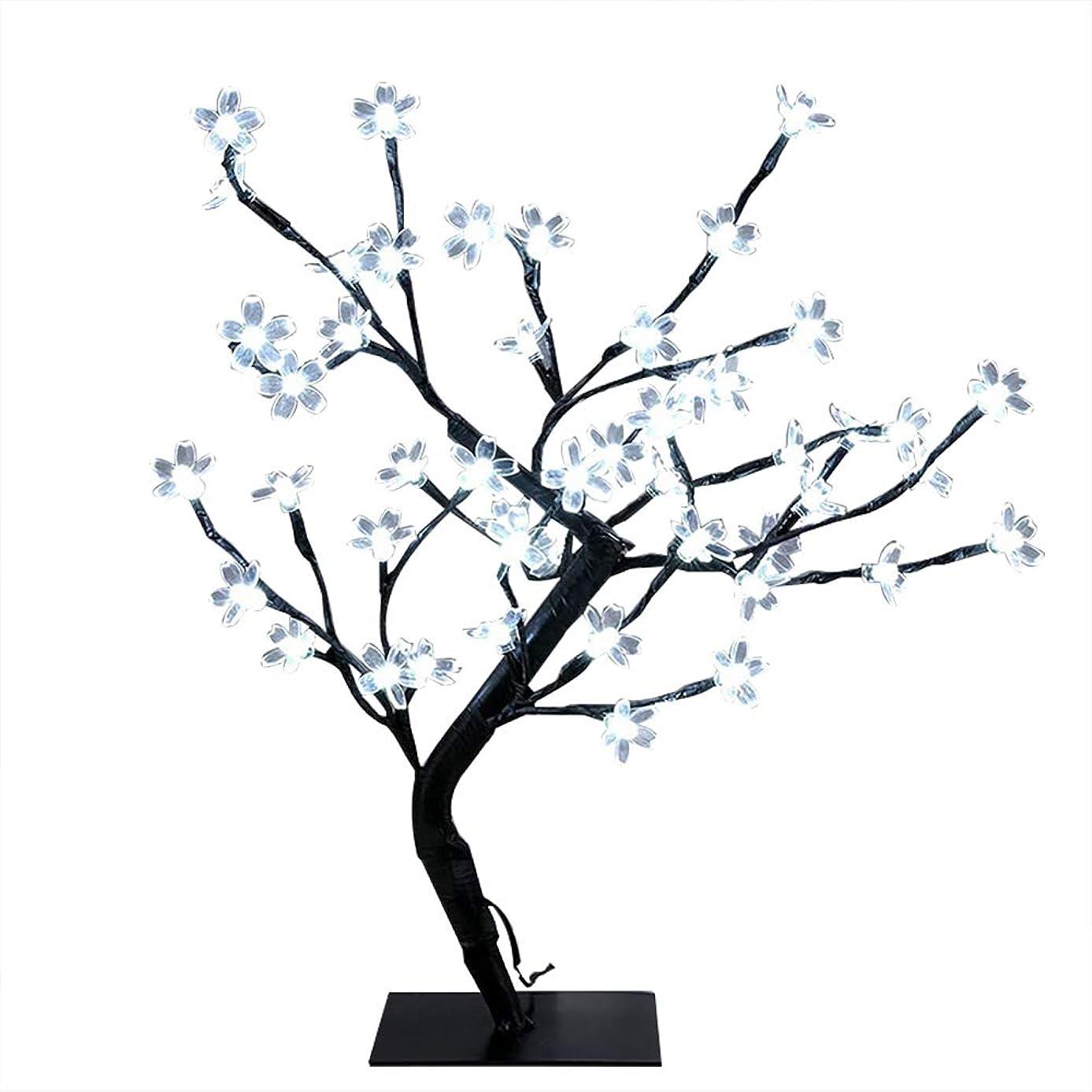 原始的なプレミアム提供された48 LED 桜 ツリーライト イルミネーションライト ストリングスライト USB式 盆栽 枝ライト 桜ライト デスクライト デスク盆栽 クリスマス/寝室/結婚式/学園祭/パーティー屋内装飾 (ホワイト)