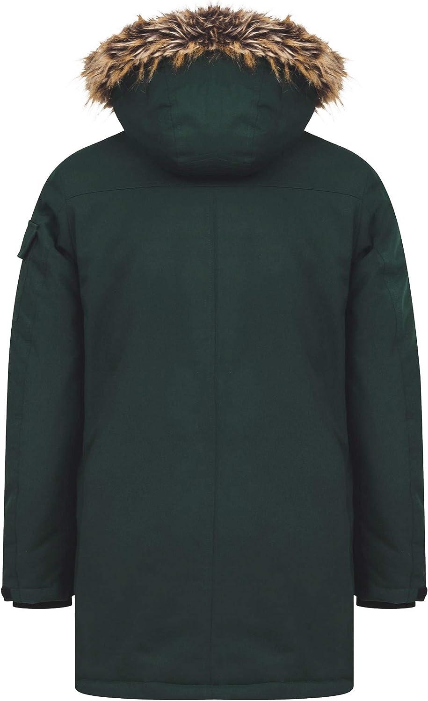 Tokyo Laundry Mens Nolte Hooded Multi-Pocket Utility Parka Coat