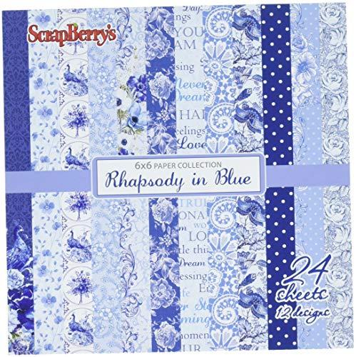 scrapberry 's Rhapsody in Blue Papier Pack 15,2x 15,2cm 6-x-6-inch